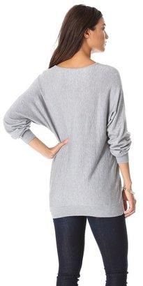Minnie Rose Dolman V Neck Sweater