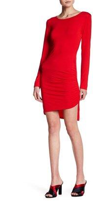 Loveappella Long Sleeve Draped Dress