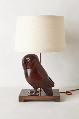 Anthropologie Handcarved Owl Lamp Base