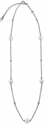 Lagos Luna Pearl Small Link Caviar Ball Chain Necklace, 18""