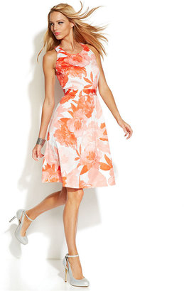 INC International Concepts Floral-Print Sleeveless A-Line Dress