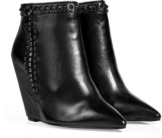 Ash Leather Jessy Ankle Boots in Black