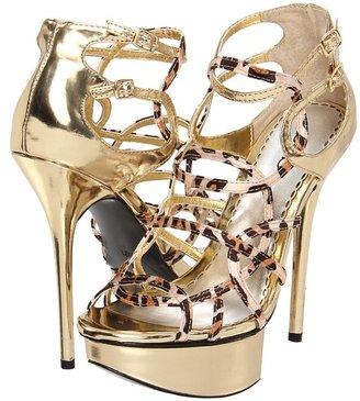 Bebe Lourdes (Leopard Gold) - Footwear