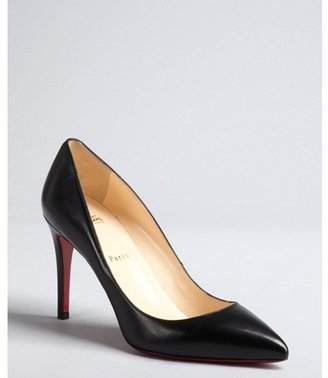 Christian Louboutin black leather pointed toe 'Pigalle' pumps