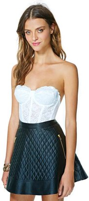 Nasty Gal Erotica Lace Bustier - White