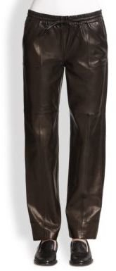 J Brand Chapmean Leather Track Pants