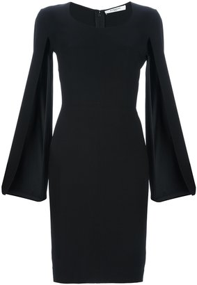 Givenchy open sleeve midi dress