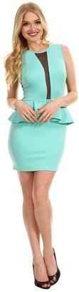 Type Z Bourbon Peplum Dress (Mint) - Apparel