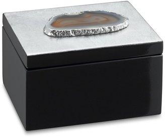 Williams-Sonoma Agate Topped Box, Silver