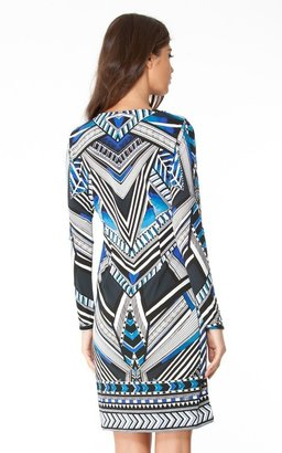 Hale Bob Mel Geo Jersey Dress In Blue