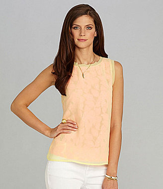 Gibson & Latimer Lace-Front Blouse