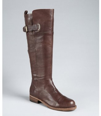 Belle by Sigerson Morrison dark brown leather 'Irene' tall riding boots