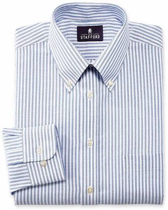 Stafford Mens Wrinkle Free Oxford Button Down Collar Dress Shirt