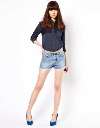 MiH Jeans Halsy Cut Denim Jeans
