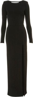 Topshop Shoulder Pad Maxi Dress