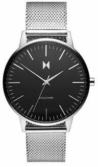 MVMT Boulevard Wilshire Silver Mesh Bracelet Watch