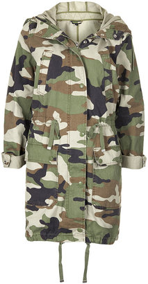 Topshop Camouflage Unlined Parka