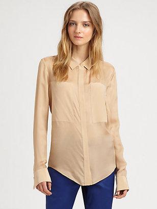 Alexander Wang Silk-Rich Button-Down Shirt