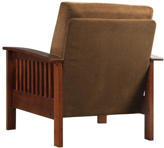 HomeSullivan Rust Microfiber Cushioned Arm Chair with Ottoman