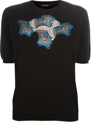 Marios Schwab lace motif sweater