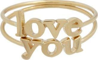 "Jennifer Meyer Love You"" Ring Set-Colorless"