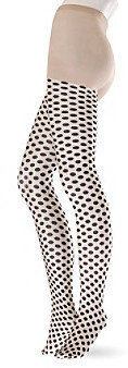 Hue Dot Pattern Sheer Tights with Control Top