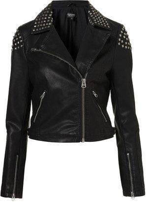 Topshop Studded Biker Jacket