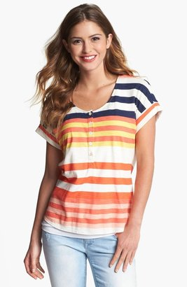 Vince Camuto Two by Multi Stripe Henley Tee