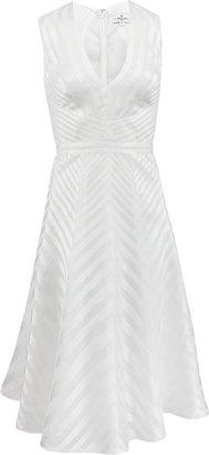 J. Mendel Sleeveless V-Neck Chevron Dress