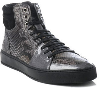 Yves Saint Laurent Python high top trainers