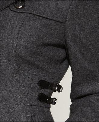 Kenneth Cole Reaction Wool-Blend Side-Buckle Walker Coat