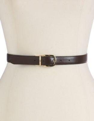 Lauren Ralph Lauren Reversible Croc-Embossed Leather Belt