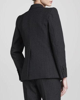 Marc Jacobs Pinstriped Blazer, Black
