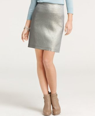 Ann Taylor Tall Kavi Bubble Jacquard Mini Skirt