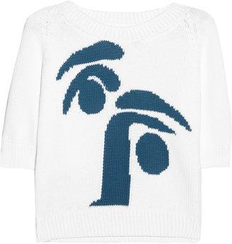 Jil Sander Intarsia cotton sweater