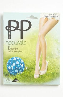 Pretty Polly 'Naturals' 8 Denier Sandal Toe Pantyhose