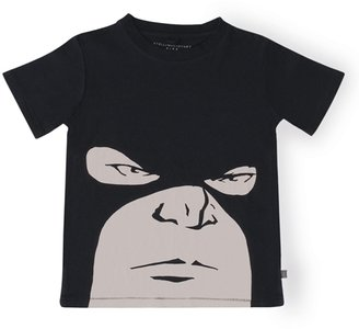 Stella McCartney Boy's Jimmie Short Sleeve Tee with Mask Graphic - Black