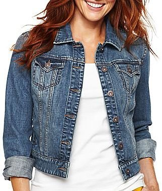 JCPenney jcpTM Denim Jacket - Petite and Talls