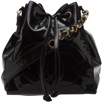 Chanel patent bucket bag