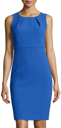 Lafayette 148 New York Sleeveless Pleated Wool Dress, Electric Blue