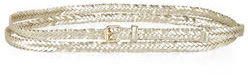 BCBGMAXAZRIA Double-Wrap Braided Waist Belt