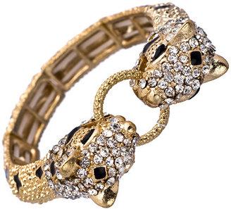 Blu Bijoux Gold Crystal Panther Bracelet