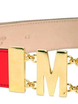 Moschino 35mm Leather Logo Low Waist Belt