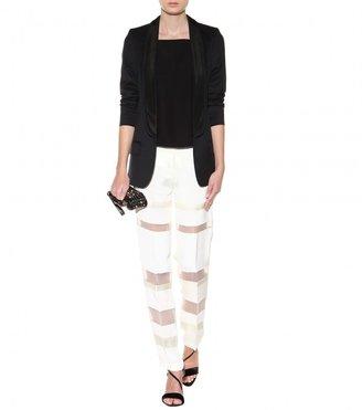 3.1 Phillip Lim Grunge panelled silk crepe trousers