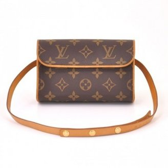 Louis Vuitton excellent (EX Brown Monogram Canvas Pochette Florentine Waist Pouch Bag