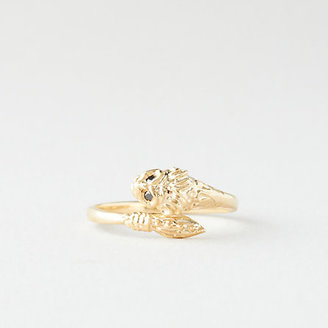 Erica Weiner 1909 BY leonine ring with black diamonds