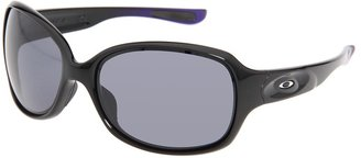 Oakley Drizzle (Polished Black/Iris Metallic/Grey Lens) - Eyewear