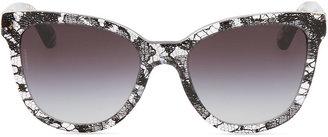 D&G Lace-Print Square Sunglasses