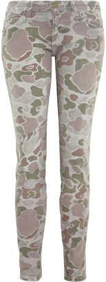 Current/Elliott The Ankle camouflage-print skinny jeans