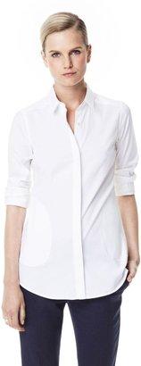 Theory Tamanda Shirt in Luxe Cotton Blend